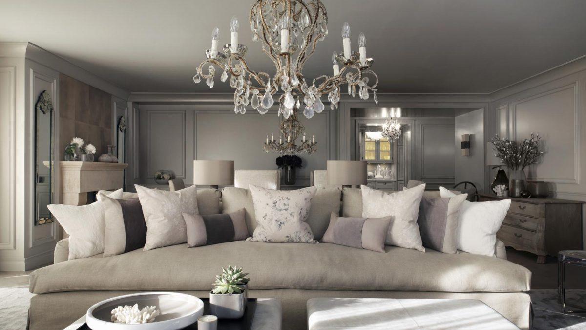 Освещение гостиной потолочными светильниками – симфония света