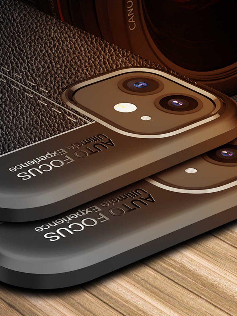 Кожаный чехол-кошелек для iPhone 12